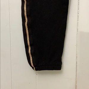 Justice Bottoms - Justice gold trimmed sweatpants Sz 14